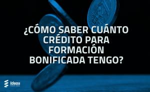 calcular el crédito para la formación bonificada
